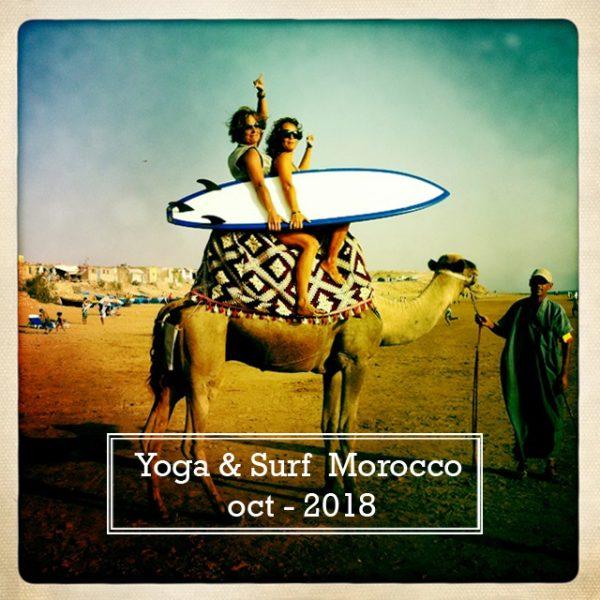 Yoga y surf marruecos, retiros en Marruecos para aprender yoga y surf